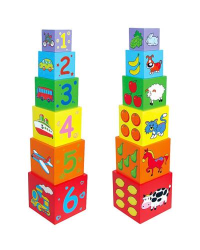 "Набор кубиков ""Пирамидка"" - Viga Toys"