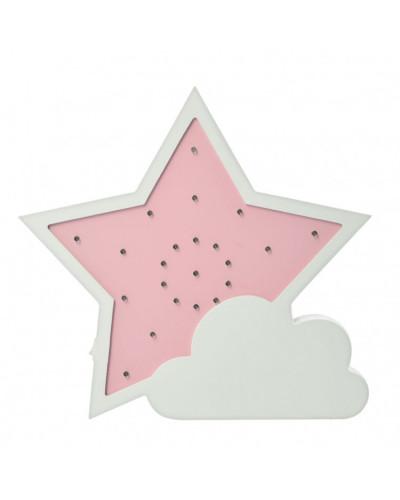 Деревянная игрушка Ночник MD 2076 Звезда (Розовая)
