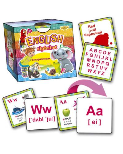 Английский алфавит в картинках Alphabet со складами
