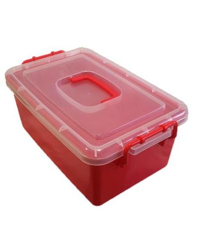Контейнер пластиковый большой Gigo красный (1140RR)