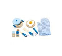 """Ігровий набір """"Маленький кухар"""", блакитний - Viga Toys (50115)"""