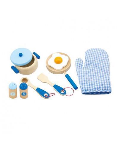 """Игровой набор """"Маленький повар"""", голубой - Viga Toys (50115)"""