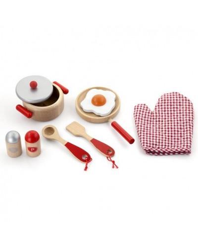 """Игровой набор """"Маленький повар"""", красный - Viga Toys"""
