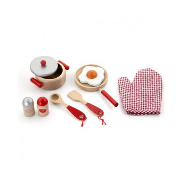 """Игровой набор """"Маленький повар"""", красный - Viga Toys (50721)"""