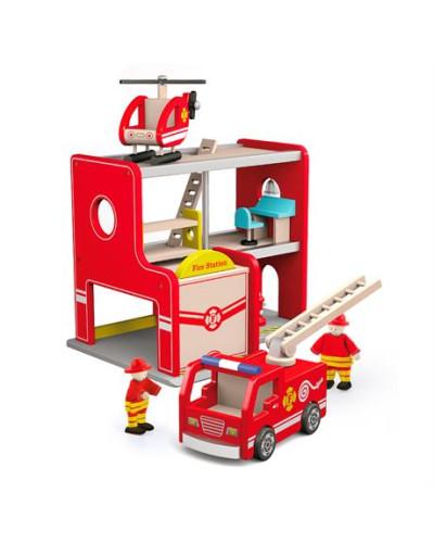 """Игровой набор """"Пожарная станция"""" - Viga Toys"""