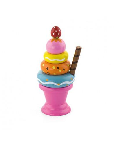 """Игровой набор """"Мороженное с фруктами. Клубничка"""" - Viga Toys"""