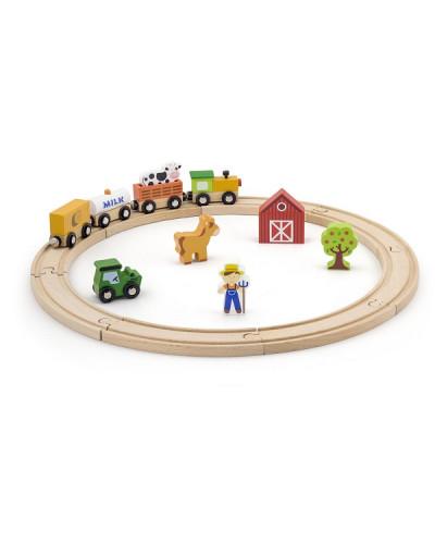 """Игровой набор """"Железная дорога"""" - Viga Toys, 19 деталей"""
